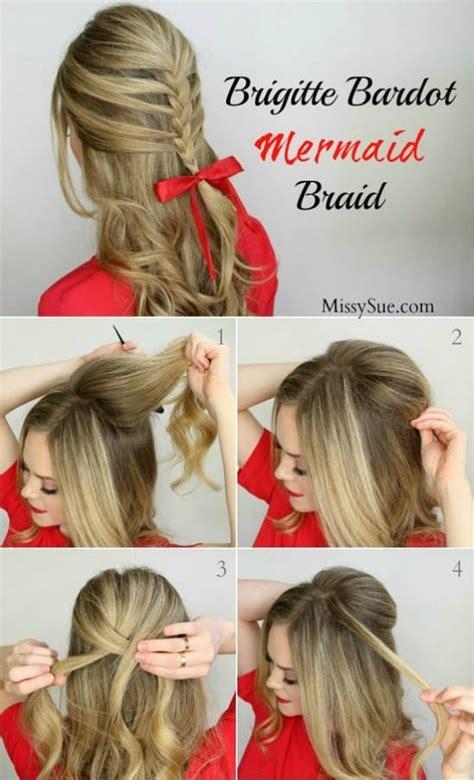 festive step  step diy hairstyles tutorials
