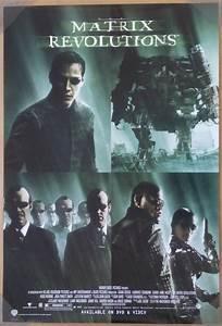 THE MATRIX REVOLUTIONS DVD MOVIE POSTER 1 Sided ORIGINAL ...