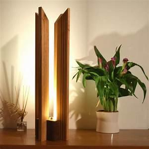 Lampe Design Bois : lampe bois design spot luminaire design marchesurmesyeux ~ Teatrodelosmanantiales.com Idées de Décoration