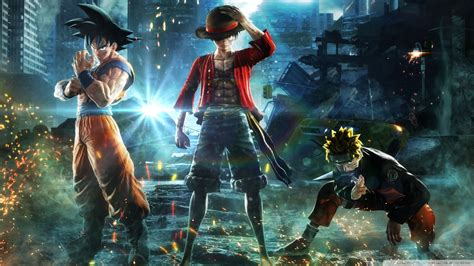 jump force goku naruto luffy ultra hd desktop
