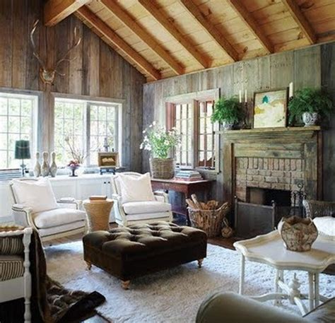 Pottery Barn Kitchen Ideas - rustic cottage style living room ideas with vaulted wooden ceiling living room glubdubs