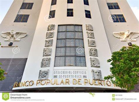 banco popular san juan puerto rico editorial image