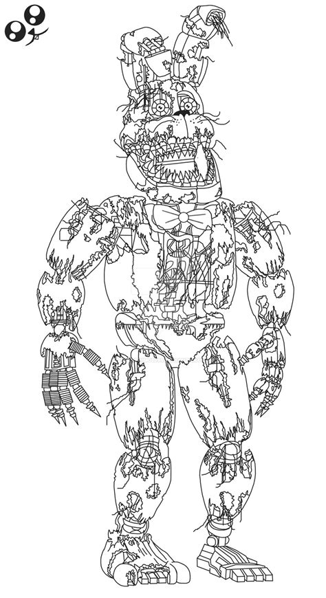 Kleurplaat Minecraft End by Fnaf Coloring Pages Nightmare Stylish Freddy Page Free