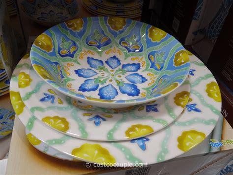 laurie melamine gates dinnerware piece costco sets costcocouple settings dishes tableware