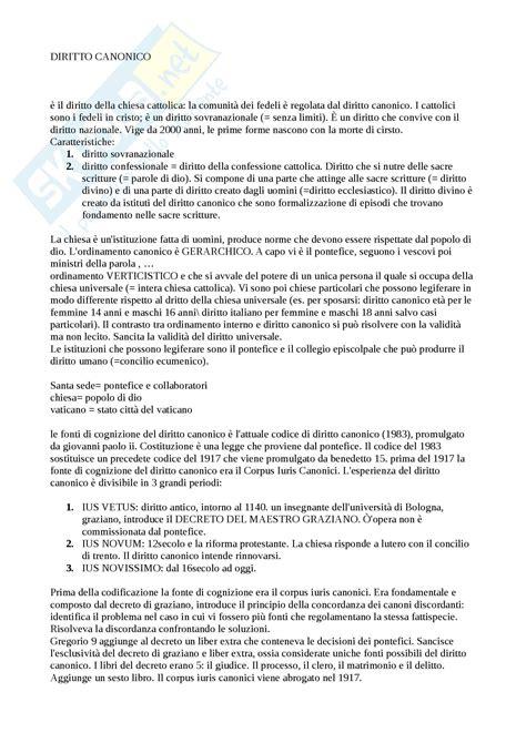 dispensa diritto canonico diritto canonico concetti
