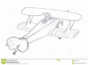 Flying airplane sketch stock illustration. Image of ...