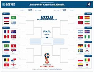 2018 Official World Cup Russia Bracket Printable