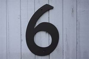 8 metal house numbers modern powder coated black or for Black metal house letters