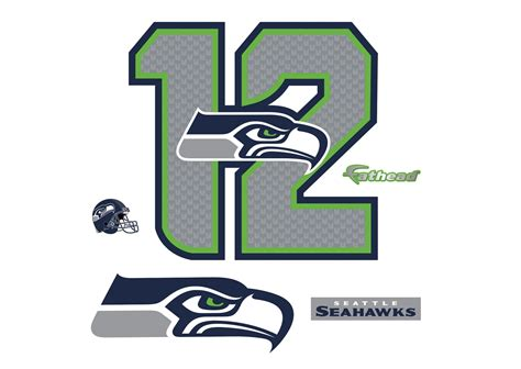 seattle seahawks  logo giant officially licensed nfl