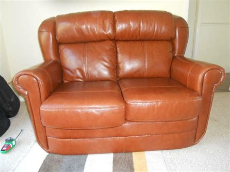 leather settee for sale 2 seater brown leather sofa for sale in narborough