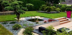jardin paysagers creation jardin japonais maisondours With attractive jardin paysager avec piscine 10 amenagement exterieur