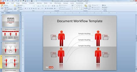 powerpoint workflow template document workflow powerpoint template