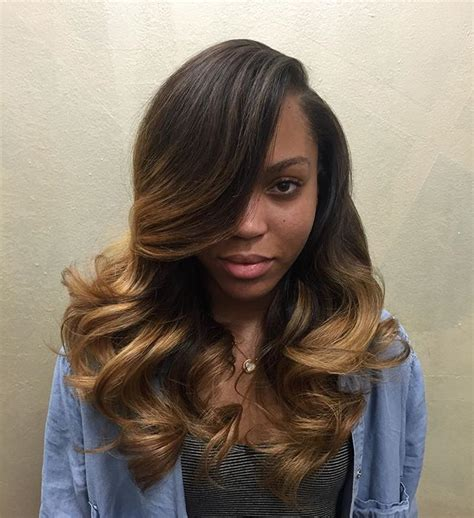 Pics Of Sew In Weave Hairstyles by Side Part Leave Out Ambssa Hair Styles Hair