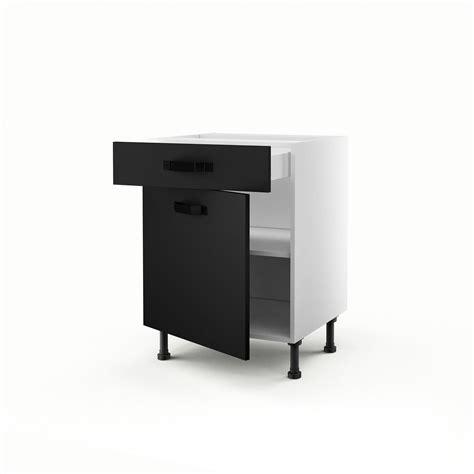 meuble cuisine noir cuisine avec frigo noir