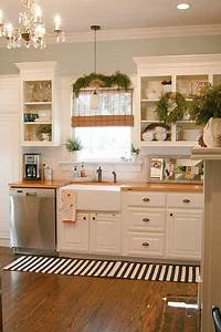 replace the countertops with dark wood and this is my With kitchen colors with white cabinets with christmas stickers for photos
