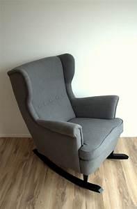 Chaise A Bascule Chambre Bebe : ikea hack strandmon rocker diy wingback rocking chair relooking si ges mobilier de ~ Nature-et-papiers.com Idées de Décoration