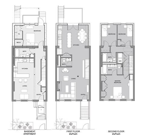 row home plans brownstone row house floor plans