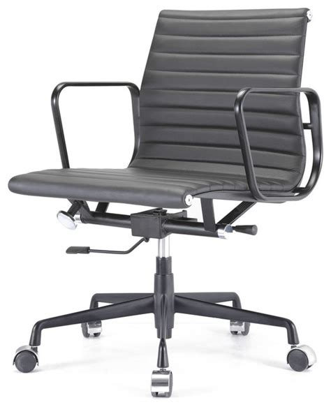 m341 eames style aluminum office chair all black