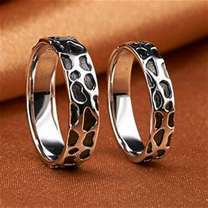 engraved gold plated modern wedding bands for man and With modern wedding rings for her