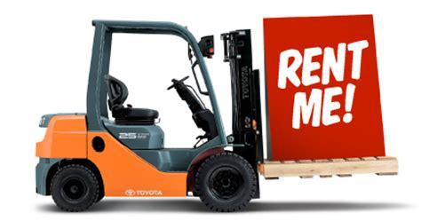 forklift hire rental range of toyota forklifts