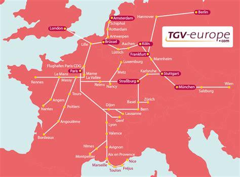das franzoesische tgv streckennetz frankreich infode