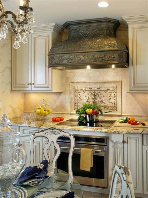 classic backsplash for kitchen antique tin range and painted backsplash hgtv 5426