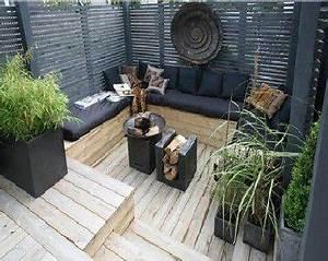 meuble exterieur zen With idee deco terrasse jardin 11 cuisine wenge noir