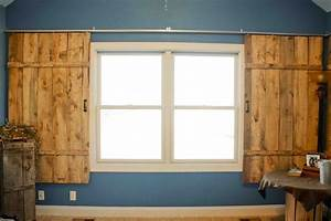 40 best barn doors images on pinterest home ideas With barn door window blinds