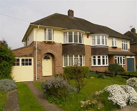 classic 1930s semi detached house uk typical settings