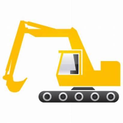 Digger Excavator Clipart Clip Construction Vector Birthday