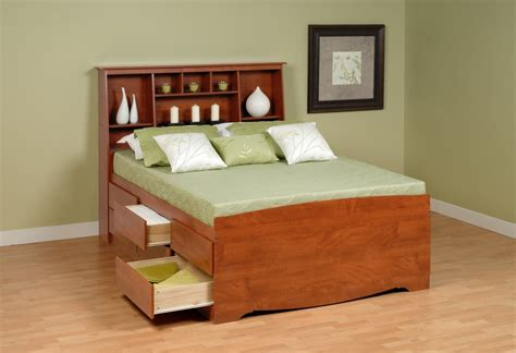 Headboards With Storage Contemporary Bedroom With King