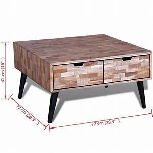 Table Basse En Solde : acheter table basse avec 4 tiroirs en teck recycl pas ~ Teatrodelosmanantiales.com Idées de Décoration