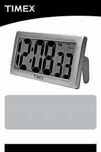 Download Timex Clock 75071t Manual And User Guides  Page 1