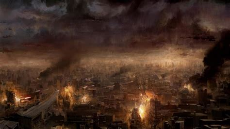 burning apocalypse hd background ruins artwork zombie outbreak apocalyptic wallpapers nga sa hosting swarm drone attack fiction science imghost situation