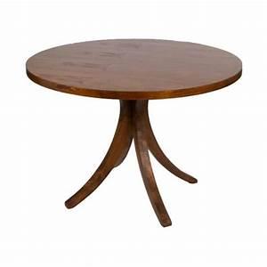 Pied De Table Original : table ronde pied central en bois fonc 120x78cm achat vente table manger seule table ronde ~ Teatrodelosmanantiales.com Idées de Décoration