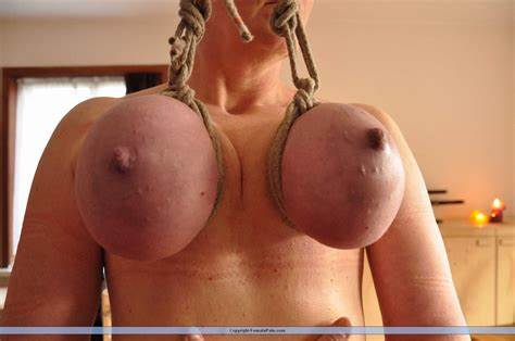 Drunked Up Alluring Hanging On A Rope Femdom Playing
