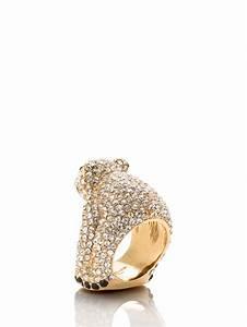 kate spade cold comforts polar ring in metallic lyst