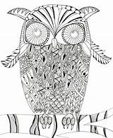 Owl Coloring Intricate Printable Pages Mandala Most Judyclementwall Favecrafts sketch template
