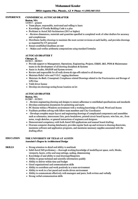 Resume Drafting by Cad Drafter Resume Joriso Nl