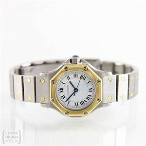 Cartier Uhr Santos Ronde Automatic Stahl750 Gold Damenuhr