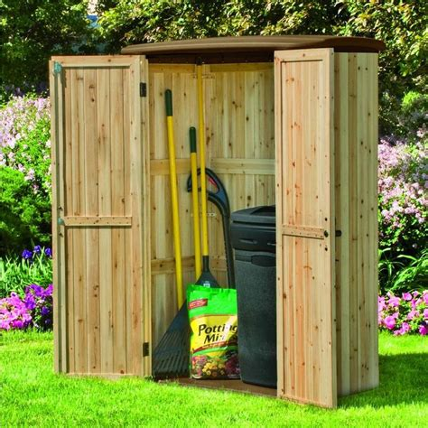 vertical tool shed suncast cedar and resin vertical shed sheds places and 3130