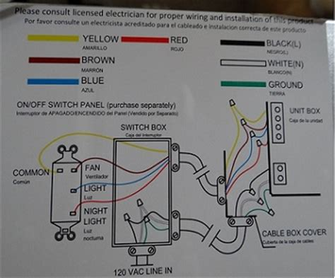 hton bay ventilation fan wiring doityourself