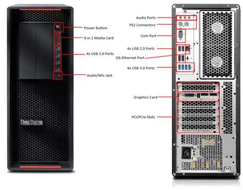 Back Of Pc Diagram by Lenovo Thinkstation P510 30b50000au Desktop Computers