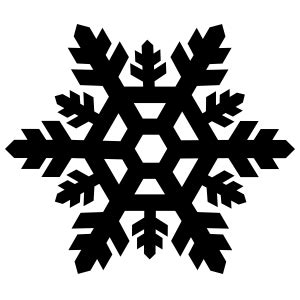 Transparent Background Snowflake Silhouette Snowflake Clip by Thick Snowflake Sticker