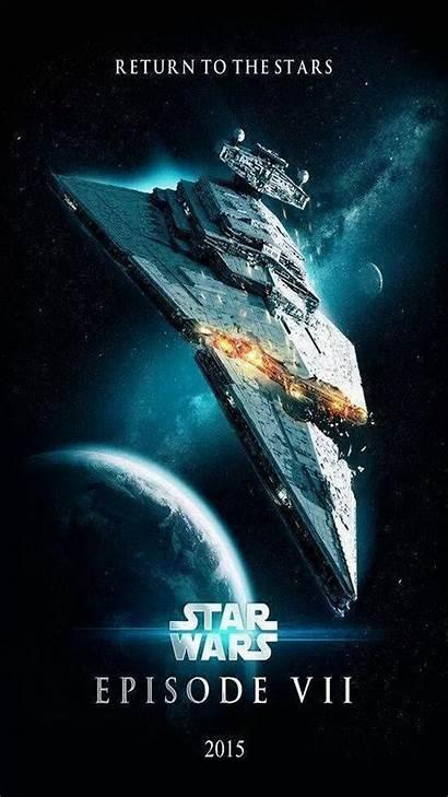 Wars Star Episode Poster Vii Wallpapers Desktop