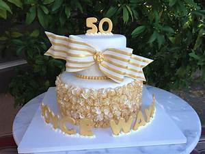 12 50th anniversary cakes with fall colors photo 50th With 50th wedding anniversary colors