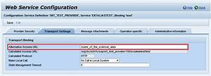 How to create an ICF External Alias for a Web Service ...