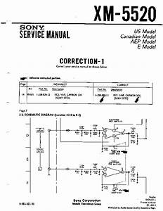 Sony Xm-5520 Service Manual