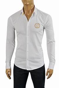Mens Designer Clothes   VERSACE Men's Button Up Dress ...