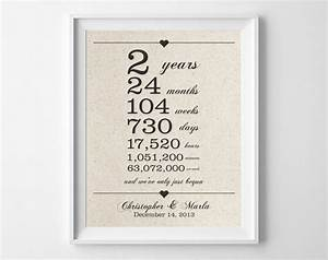 2 years together cotton anniversary print 2nd With 2 wedding anniversary gifts for him